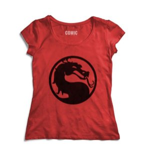 Camiseta Feminina Mortal Kombat - Nerd e Geek - Presentes Criativos