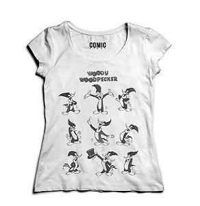 Camiseta Feminina Pica Pau - Nerd e Geek - Presentes Criativos