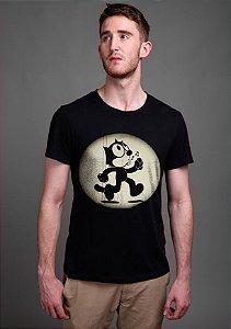 Camiseta Masculina  Gato Felix - Nerd e Geek - Presentes Criativos