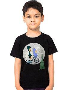 Camiseta Infantil  Beavis and Butt Head ET   - Nerd e Geek - Presentes Criativos