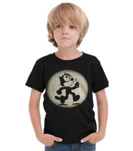 Camiseta Infantil Gato Felix - Nerd e Geek - Presentes Criativos