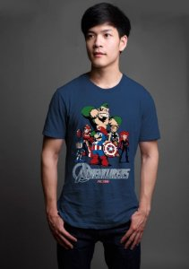 Camiseta Masculina  Herois - Nerd e Geek - Presentes Criativos