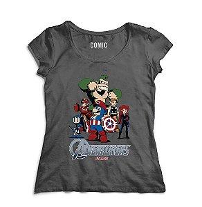 Camiseta Feminina Herois - Nerd e Geek - Presentes Criativos