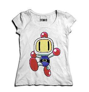 Camiseta Feminina Bomberman - Nerd e Geek - Presentes Criativos