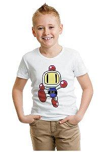 Camiseta Infantil  Bomberman - Nerd e Geek - Presentes Criativos