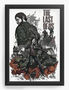 Quadro Decorativo The Last Of Us - Nerd e Geek - Presentes Criativos