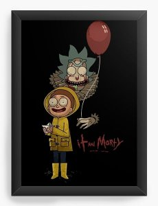 Quadro Decorativo A4 (33X24) Rick and Morty It - Nerd e Geek - Presentes Criativos