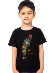Camiseta Infantil Rick and Morty It - Nerd e Geek - Presentes Criativos