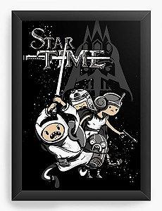 Quadro Decorativo A4 (33X24) Star Time - Nerd e Geek - Presentes Criativos