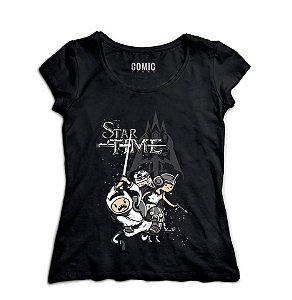 Camiseta Feminina Star Time - Nerd e Geek - Presentes Criativos