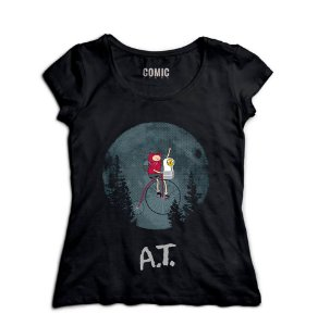 Camiseta Feminina Adventure Time Et - Nerd e Geek - Presentes Criativos