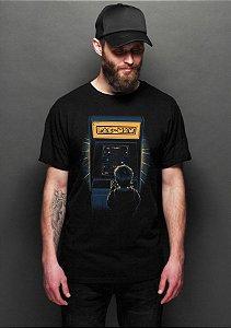 Camiseta Masculina  Pac-Man - Nerd e Geek - Presentes Criativos