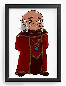 Quadro Decorativo Mestre dos Magos - Caverna do Dragão   - Nerd e Geek - Presentes Criativos