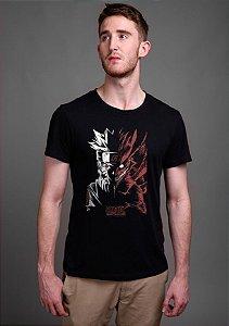 Camiseta Masculina  Naruto Kyuubi - Nerd e Geek - Presentes Criativos