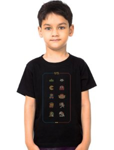 Camiseta Infantil Retro Game - Nerd e Geek - Presentes Criativos