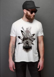 Camiseta Masculina  God of War - Nerd e Geek - Presentes Criativos