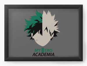 Quadro Decorativo A4 (33X24) Anime Boku no Hero Academia