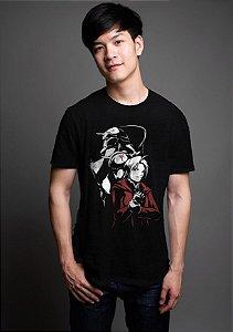 Camiseta Masculina  Anime Fullmetal Alchemist - Nerd e Geek - Presentes Criativos