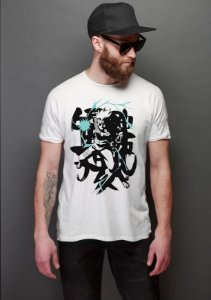 Camiseta Masculina  Anime Hatake Kakashi : Naruto - Nerd e Geek - Presentes Criativos