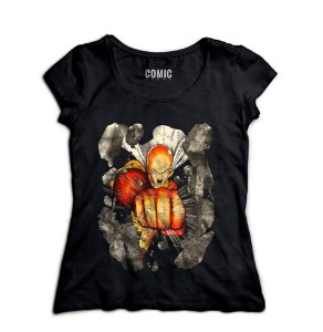 Camiseta  Feminina Anime One Punch-Man