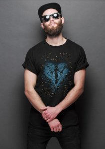 Camiseta Masculina   Feel the Darkness - Nerd e Geek - Presentes Criativos