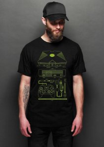 Camiseta Masculina  Box - Nerd e Geek - Presentes Criativos