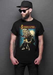 Camiseta Masculina  Symphony of the Night - Nerd e Geek - Presentes Criativos