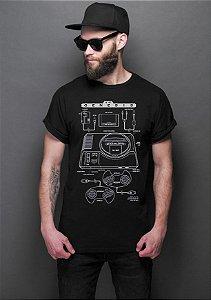 Camiseta Masculina  Mega Drive - Nerd e Geek - Presentes Criativos