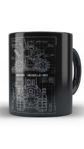 Caneca Metal Slug Blueprint  SV 001 - Nerd e Geek - Presentes Criativos