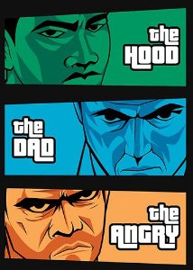 Camiseta  the Hood, the Dad & the Angry