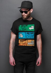 Camiseta Masculina   the Hood, the Dad & the Angry - Nerd e Geek - Presentes Criativos
