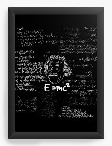 Quadro Decorativo A4 (33X24) Albert Einstein - Nerd e Geek - Presentes Criativos