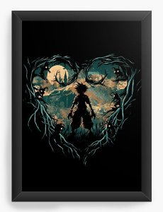Quadro Decorativo A4 (33X24) Kingdom Hearts - Hunter of Darkness - Nerd e Geek - Presentes Criativos