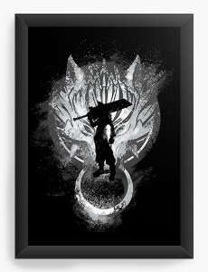Quadro Decorativo A4 (33X24) Kingdom Hearts - Cloud - Nerd e Geek - Presentes Criativos