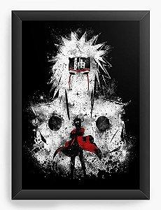 Quadro Decorativo A4 (33X24) Naruto Sennin Modo - Nerd e Geek - Presentes Criativos