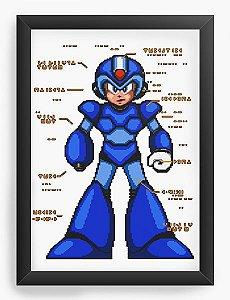 Quadro Decorativo Mega Man - Nerd e Geek - Presentes Criativos