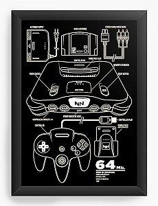 Quadro Decorativo A4 (33X24) NN - Nerd e Geek - Presentes Criativos