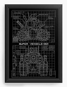 Quadro Decorativo A4 (33X24) Metal Slug Blueprint  SV 001 - Nerd e Geek - Presentes Criativos