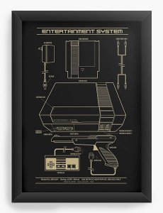 Quadro Decorativo Entertainment System - Nerd e Geek - Presentes Criativos