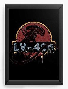 Quadro Decorativo A4 (33X24) Alien - Nerd e Geek - Presentes Criativos