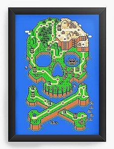Quadro Decorativo Map - Nerd e Geek - Presentes Criativos