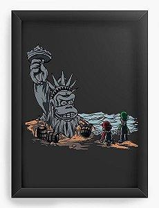 Quadro Decorativo A4 (33X24) The Planet of the Kong - Nerd e Geek - Presentes Criativos
