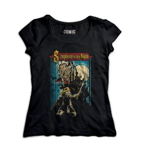 Camiseta  Feminina Symphony of the Night - Nerd e Geek - Presentes Criativos