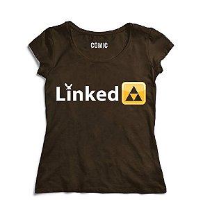 Camiseta Feminina Linked To The Past - Nerd e Geek - Presentes Criativos