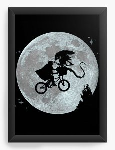 Quadro Decorativo A4 (33X24) Et Alien - Nerd e Geek - Presentes Criativos