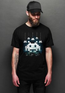 Camiseta Masculina Space Atari - Nerd e Geek - Presentes Criativos