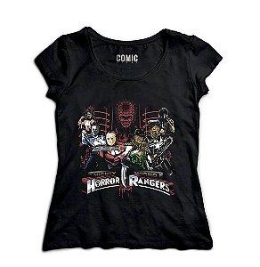 Camiseta Feminina Rangers - Nerd e Geek - Presentes Criativos