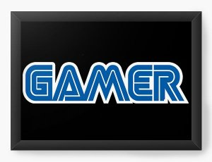 Quadro Decorativo A4 (33X24) Gamer - Nerd e Geek - Presentes Criativos