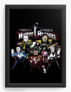 Quadro Decorativo Rangers  - Nerd e Geek - Presentes Criativos