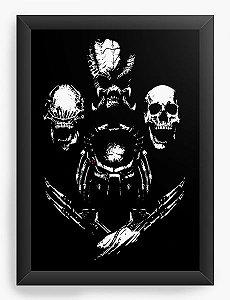 Quadro Decorativo Aliens - Nerd e Geek - Presentes Criativos
